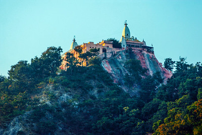 Hilltop temple, Temple town of Rishikesh, Uttaranchal, India