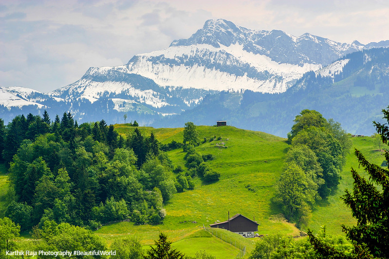 Snow capped mountains, View from Burgenstock, Lucerne, Switzerla