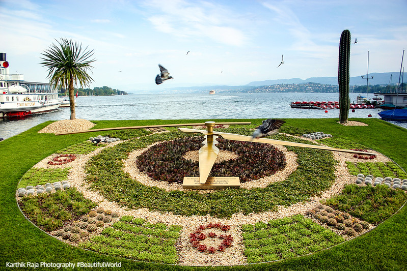 Flower Clock, Zurich, Switzerland