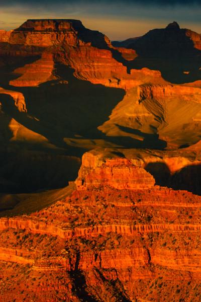 Yaki Point, Sunset views, Grand Canyon National Park, Arizona