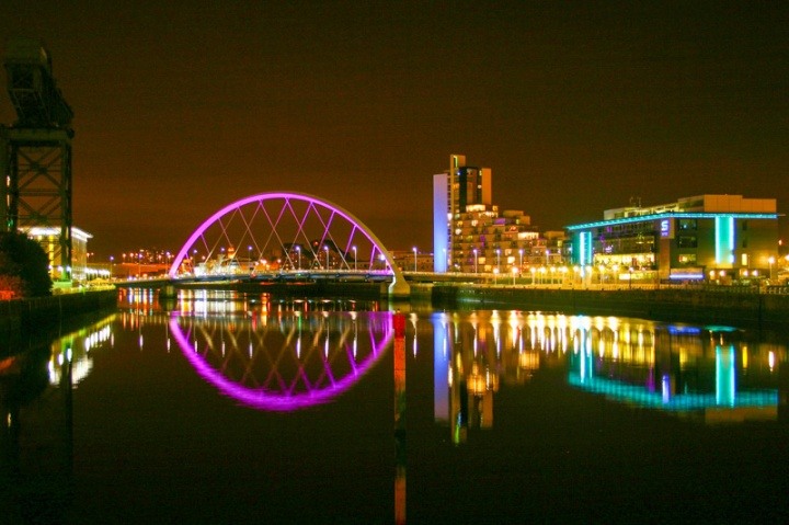 Clyde Arc over river Clyde, Glasgow, Scotland