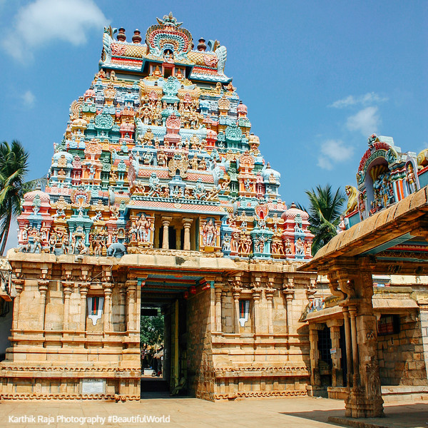 Gopuram within the temple, Sri Ranganathaaswami Temple, Sriranga