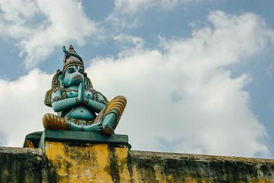 Hanuman guarding the wall, Sri Ranganathaaswami Temple, Sriranga