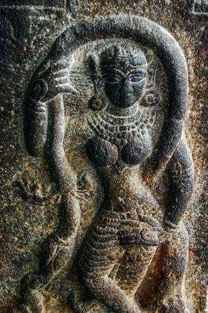 Stone dancer, Sri Ranganathaaswami Temple, Srirangam, Tiruchirap