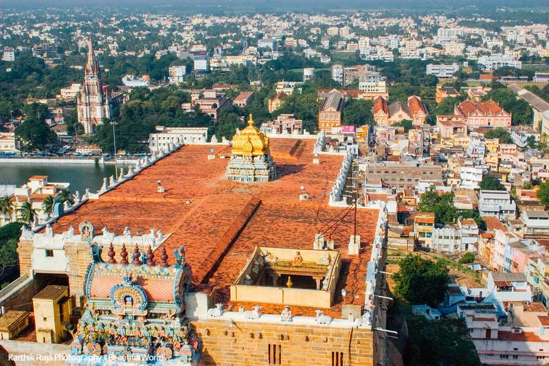 Thayumanaswamy temple and St.Joseph's college, Tiruchirapalli (T