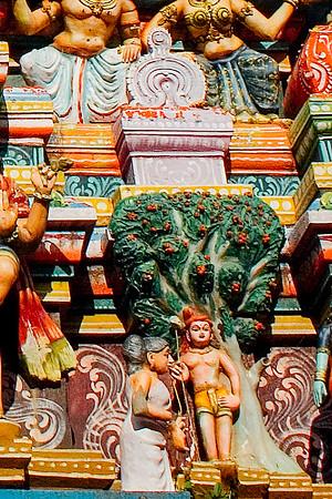 Muruga and Avvaiyar, Pazhamudhircholai Temple, Madurai, India