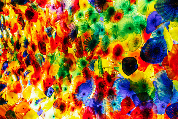 Colored glass in the Bellagio Lobby by Dale Chihuly, Las Vegas,