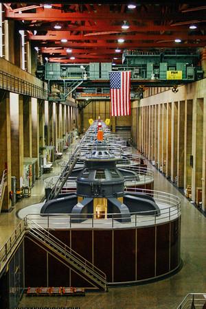 Turbines at Hoover Dam, Nevada