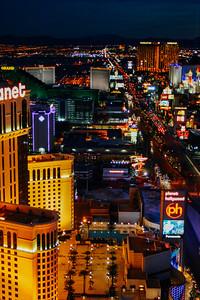 South Strip later at night, Las Vegas, NV