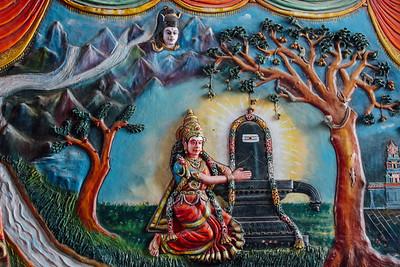 Shiva Parvati painting - Ekambareswara Temple, Kanchipuram, Indi