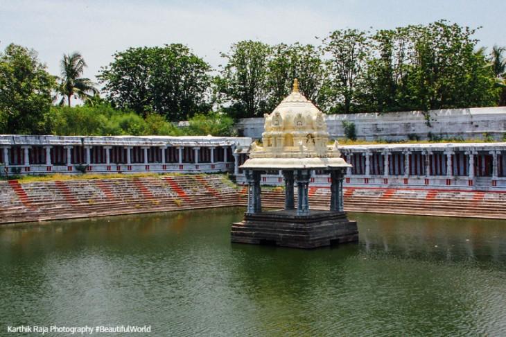 Ekambareswara Temple tank, Kanchipuram, India