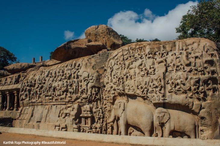 Descent of the Ganges, Mahabalipuram, Tamil Nadu, India
