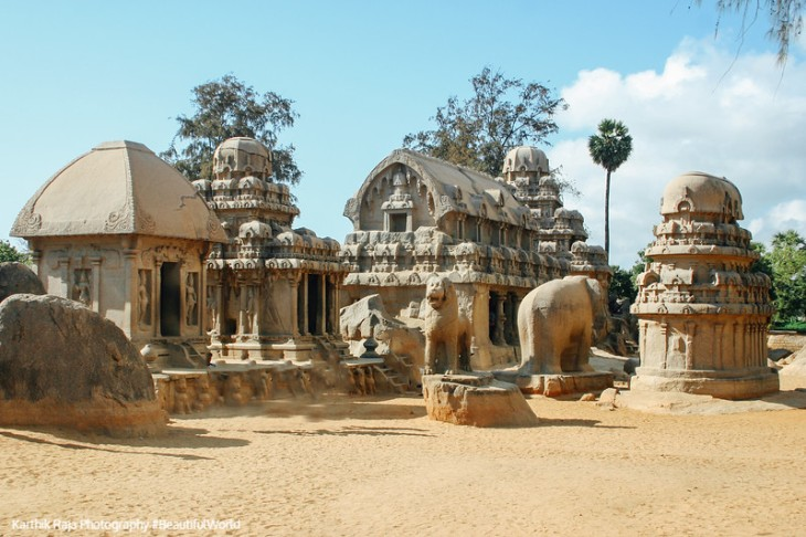 Five Rathas, Pancha Rathas, Mahabalipuram, Tamil Nadu, India