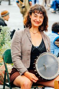 Performer at the Northwest Folklife Festival, Seattle, Washingto
