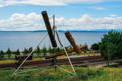 Olympic Sculpture Park, Bunyon's Chess, Mark di Suvero, Seattle,