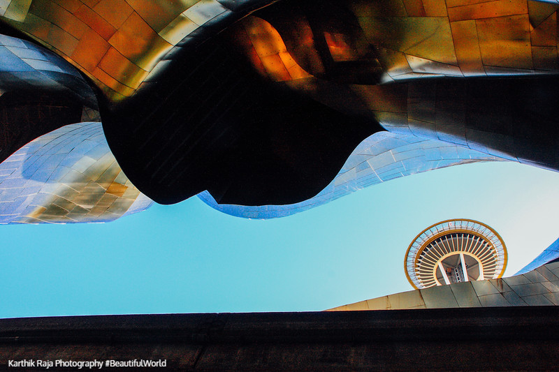 Experience Music Project - Franck Gehry architect, Space Needle,