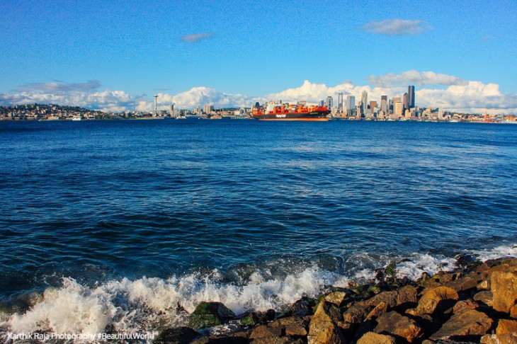 Alki Beach, Elliot Bay, Seattle, Washington
