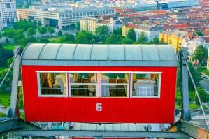 Viennese Giant Wheel, Wiener Riesenrad, - dining car, Vienna, Au