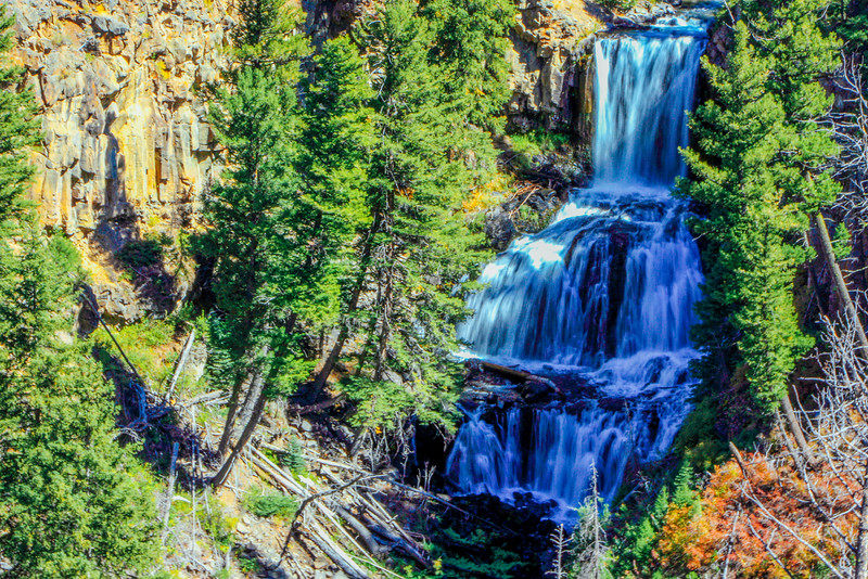 Undine Falls (60 feet), Mammoth to Tower - Yellowstone National