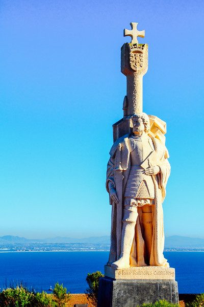 Cabrillo National Monument, looking out over the bay, sculptor A
