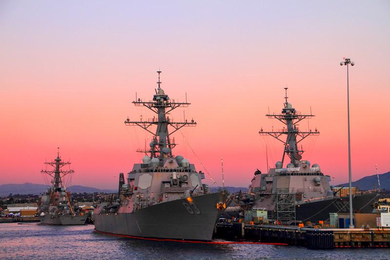 Battleships, San Diego Naval base
