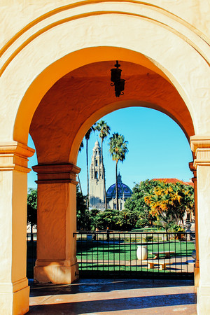The California Bell Tower and San Diego Museum of Man, Balboa Pa