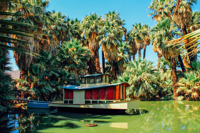 Boat, 29 Palms, Oasis of Mara, Joshua Tree National Park, Califo