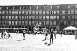 Bubbles, Plaza Mayor, Madrid, Spain