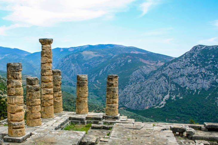 Delphi, Temple of Apollo, Greece