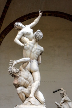 The Rape of the Sabine Women by Giambologna in Loggia dei Lanzi,