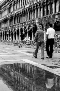 Walking in St. Mark's Square, Venice, Italy