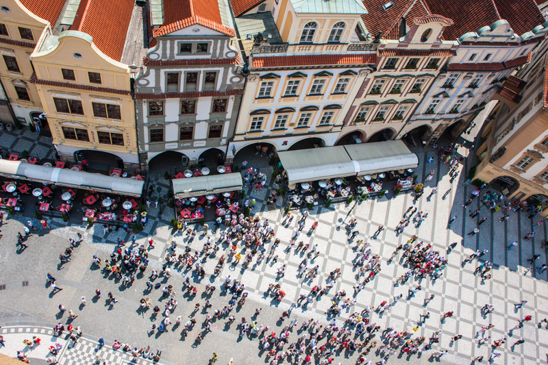 View of the Stare Mesto from the Astronomical Clock Tower, Pragu