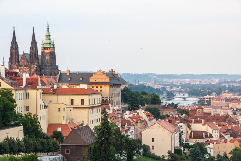 St. Vitus Cathedral overlooking Prague, Czech Republic
