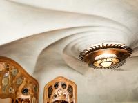 Casa Batllo, Gaudi, Chandelier, Barcelona, Spain
