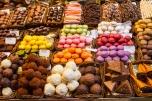 Chocolates, Mercat de Sant Josep O la Bouqueria, Barcelona, Spai