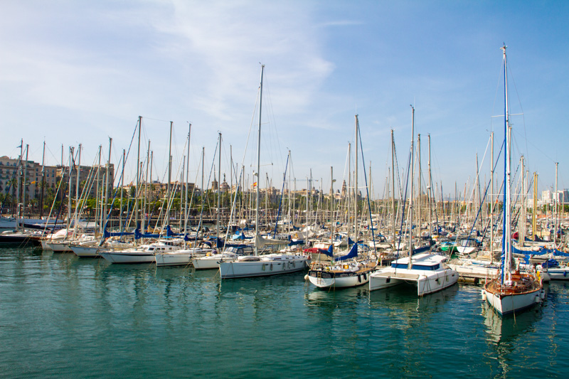 Boats, Barcelona port, Spain