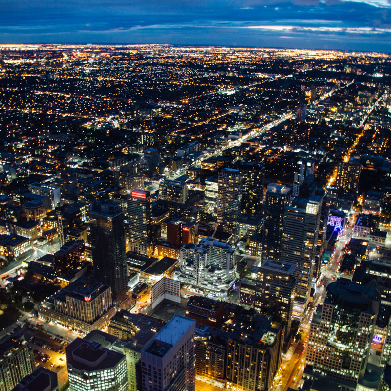Night View of Toronto, Canada