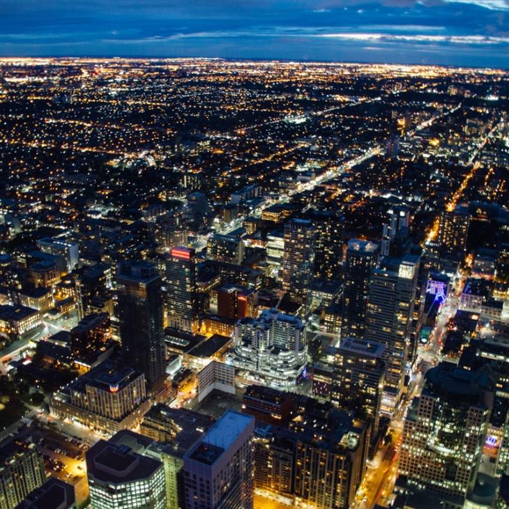 Night View of Toronto, Canada
