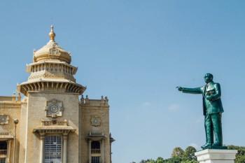 Ambedkar statue, Vidhan Soudha, Bangalore, Karnataka, India