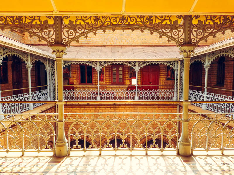 Balcony, Bangalore Palace, 1862-1944, Karnataka, India