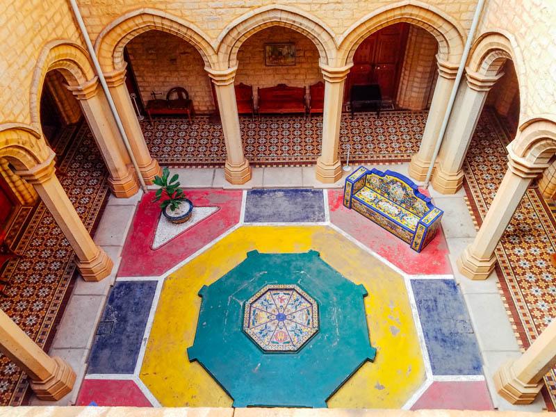 Courtyard, Bangalore Palace, 1862-1944, Karnataka, India