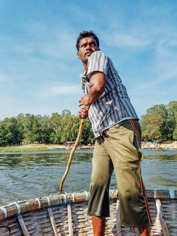 Boatsman, Kaveri River, Talakad, Karnataka, India