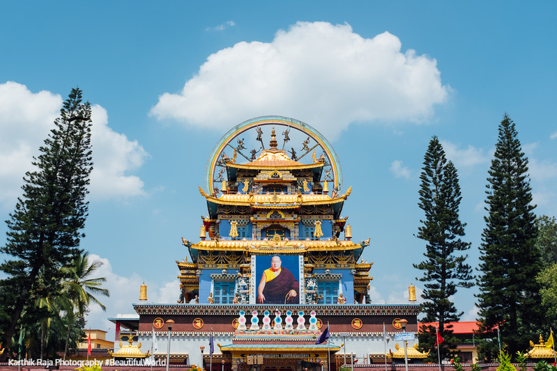 Golden Temple, Namdroling Monastery, Bylakuppe, Kodagu District,