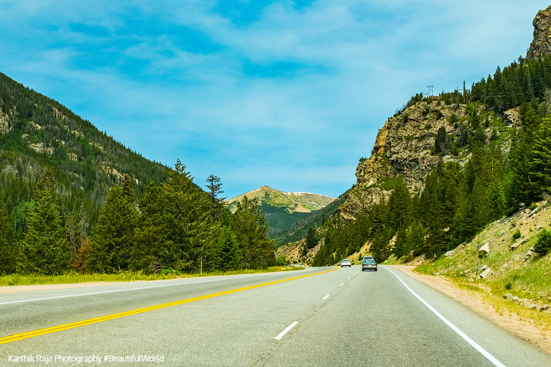 Americas scenic byway through Arapahoe National Forest, Colorado