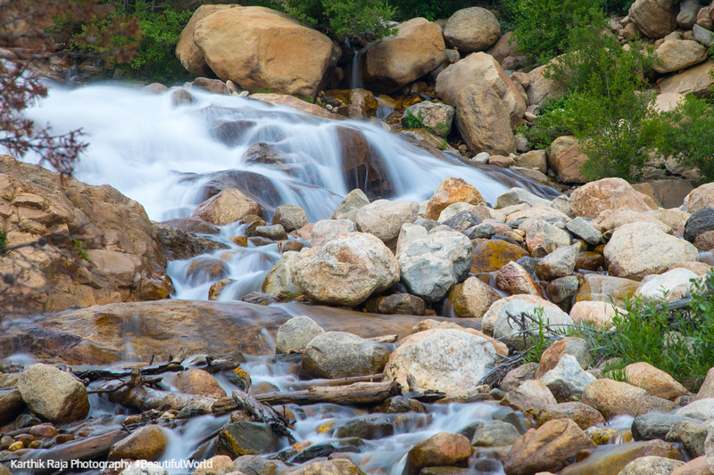 Roaring river, Alluvial Fan, Rocky Mountain National Park, Color