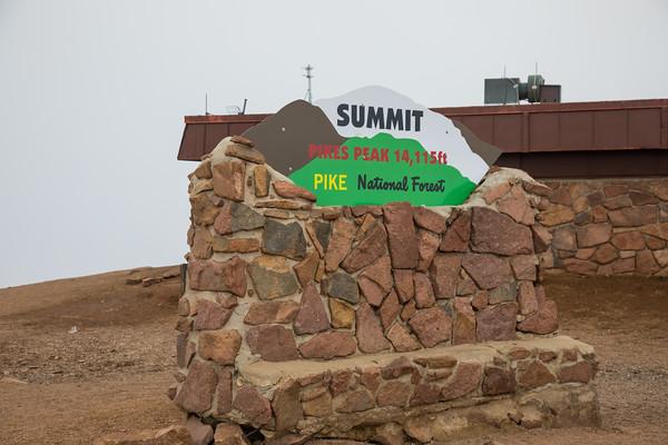 Summit. Pikes Peak, Colorado Springs, Colorado
