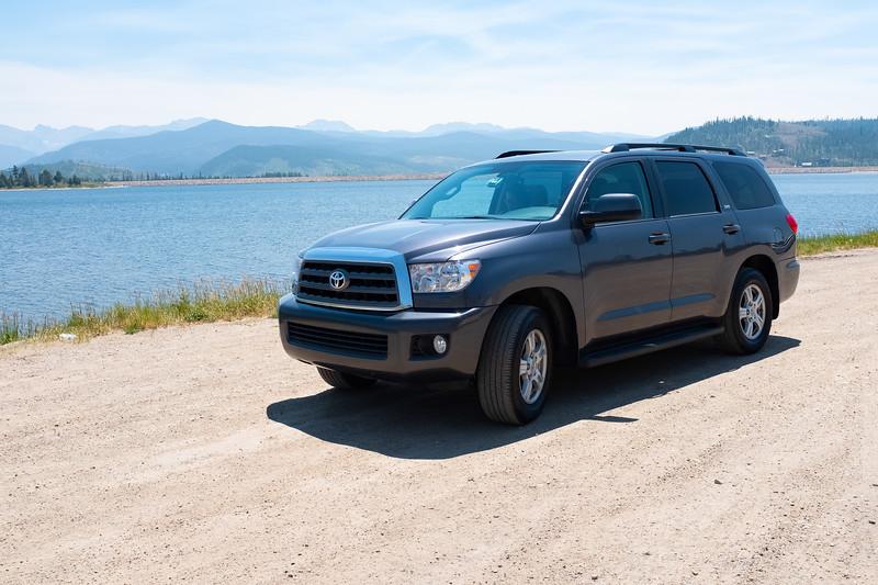 Our car for the trip, Toyota Seouoia, Grand Lake, Rocky Mountain