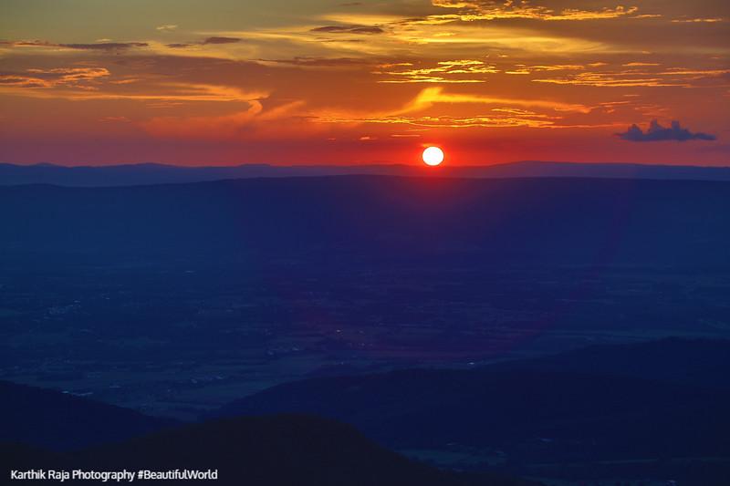 Sunset, Timber Hollow Overlook, Shenandoah National Park, Virgin