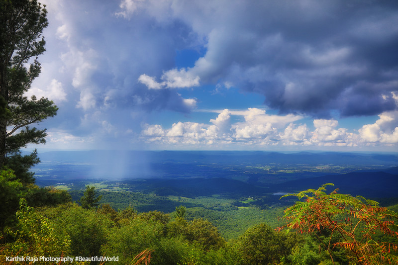 Rain Cloud, Pass Mountain Overlook, Shenandoah National Park, Vi