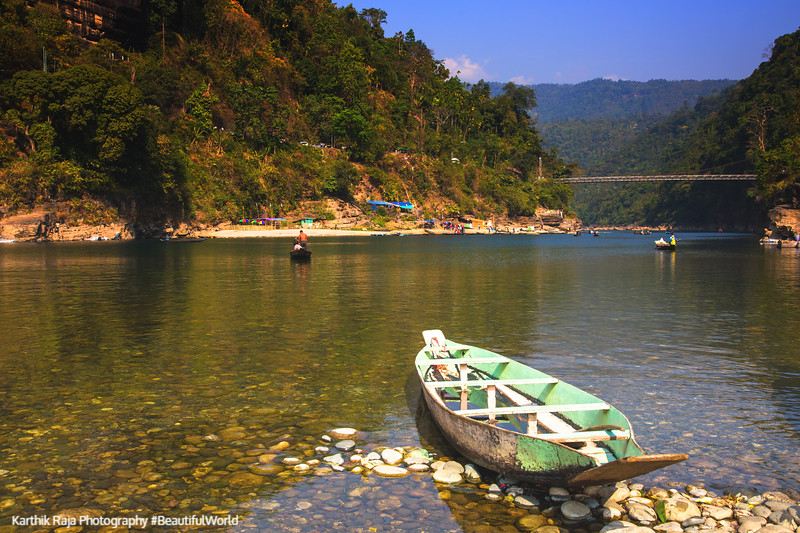 Boats, Dawki River, Meghalaya - India - Bangaladesh Border